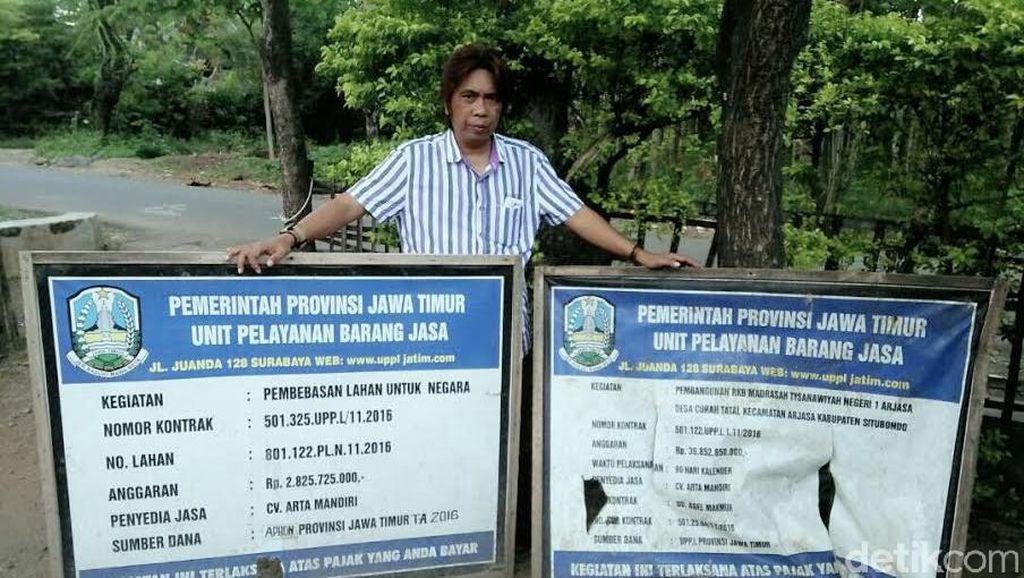 Mangkrak, Pembangunan MTsN di Situbondo Rp 38 Miliar Dipolisikan