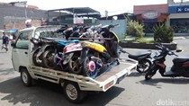 Polres Garut Angkut Puluhan Motor Knalpot Bising
