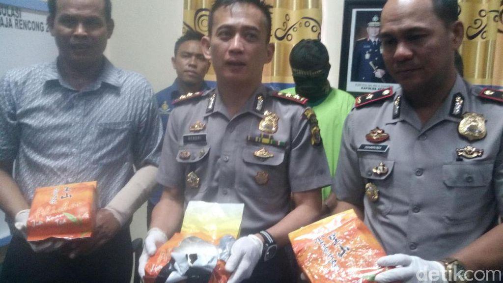 Polisi Sita 3 Kg Sabu yang Dikemas Bungkusan Teh China