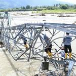 Roboh Akibat Banjir, Tower Listrik di Sulteng Diganti Darurat