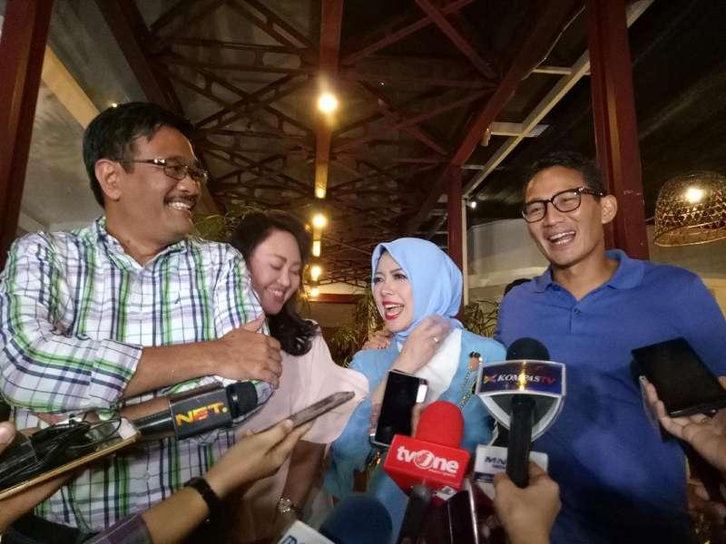 Djarot dan Sandiaga Diskusi soal Jakarta di Sela Makan Malam