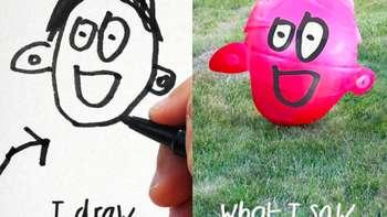 Modal Photoshop, Lukisan Lucu Anak Menjadi Nyata
