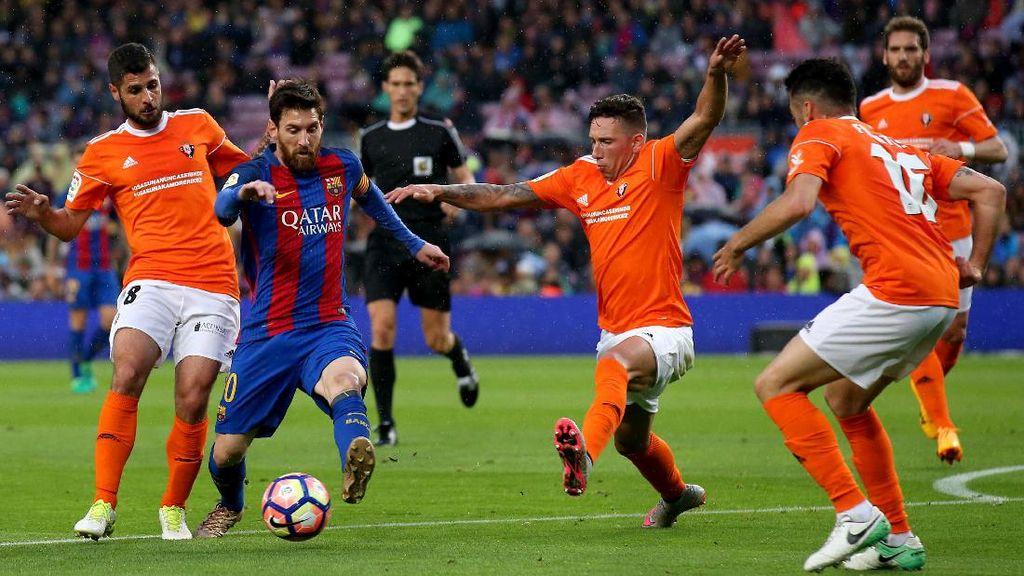 Barcelona Kembalikan Osasuna ke Segunda Division
