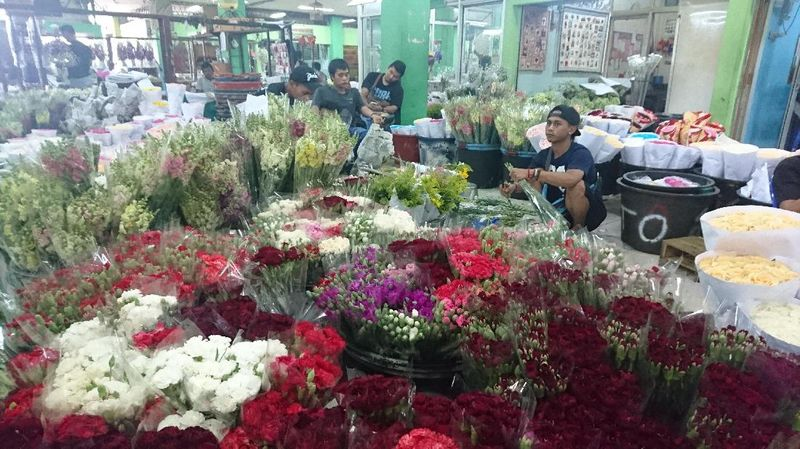 Inilah pasar bunga yang memasok sebagian karangan bunga bagi Basuki Tjahaja Purnama dan Djarot Saiful Hidayat (Masaul/detikTravel)