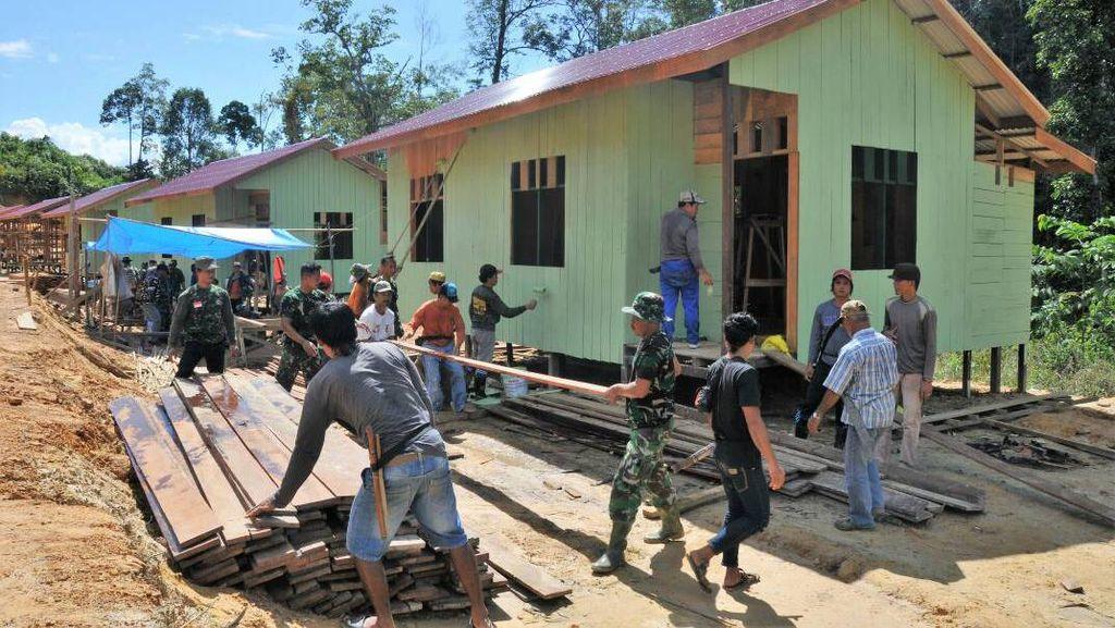 Proyek Pemekaran, TNI Bangun 17 Rumah di Kalimantan Timur