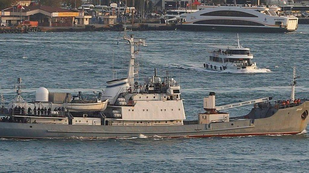 Kapal Mata-Mata Rusia Tenggelam di Lepas Pantai Turki