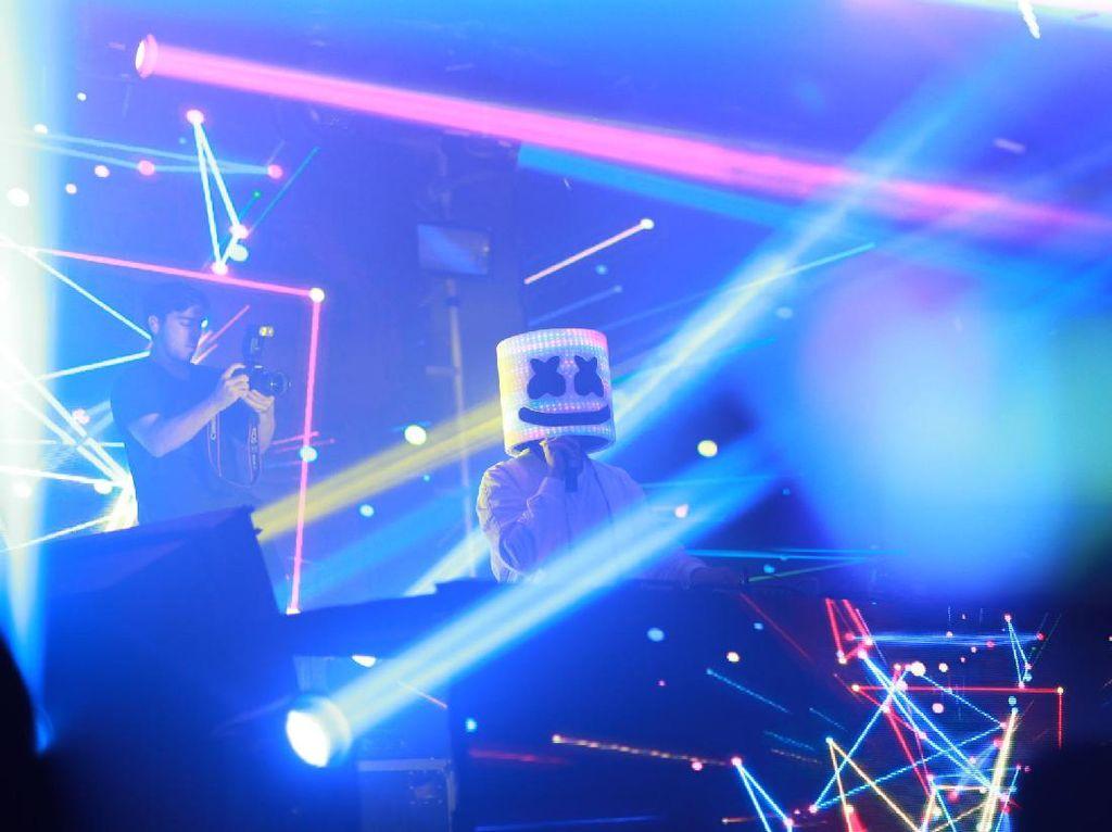 Begini Pecahnya Konser DJ Marshmello Pagi Tadi
