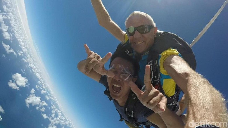 Foto: Skydiving di Gold Coast, Australia (Afif/detikTravel)