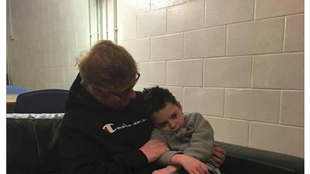 So Sweet! Saat Ed Sheeran Bertemu Bocah dengan Kondisi Genetik Langka