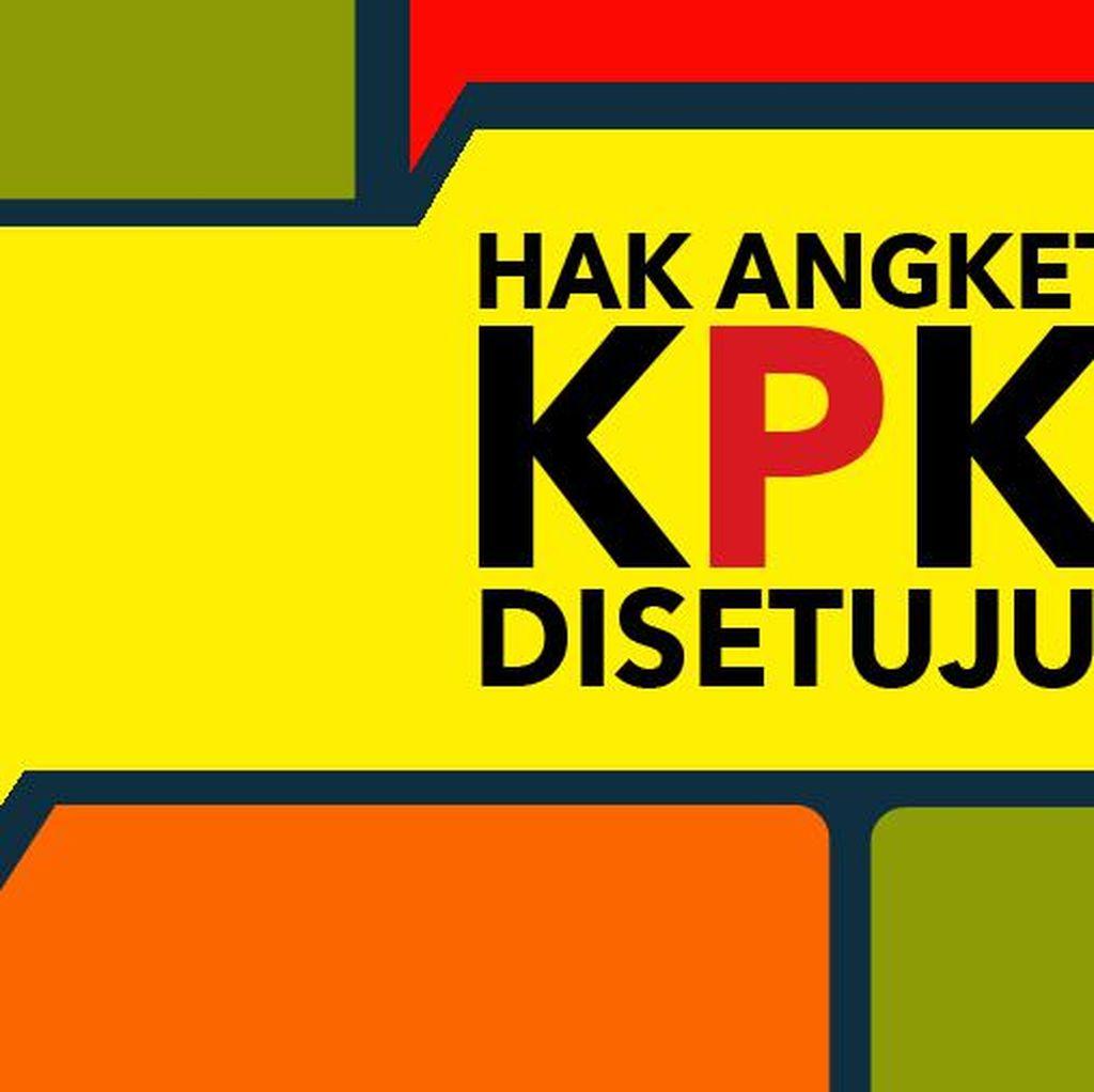 Hak Angket KPK Disahkan DPR