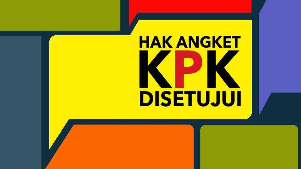 KPK: Bila Serius Perangi Korupsi, DPR Harusnya Tolak Hak Angket