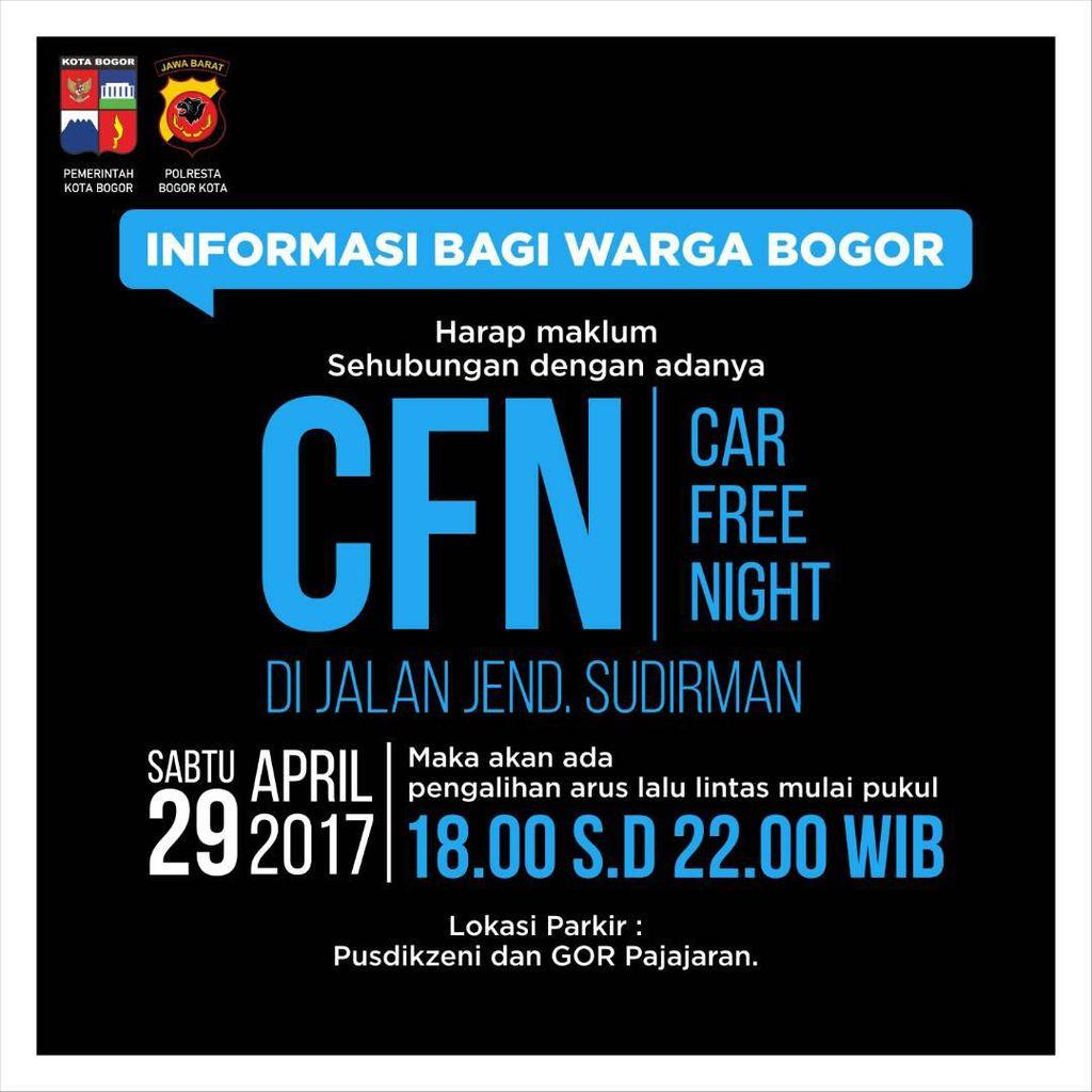 Malam Ini, Bogor akan Uji Coba Car Free Night di Jalan Sudirman