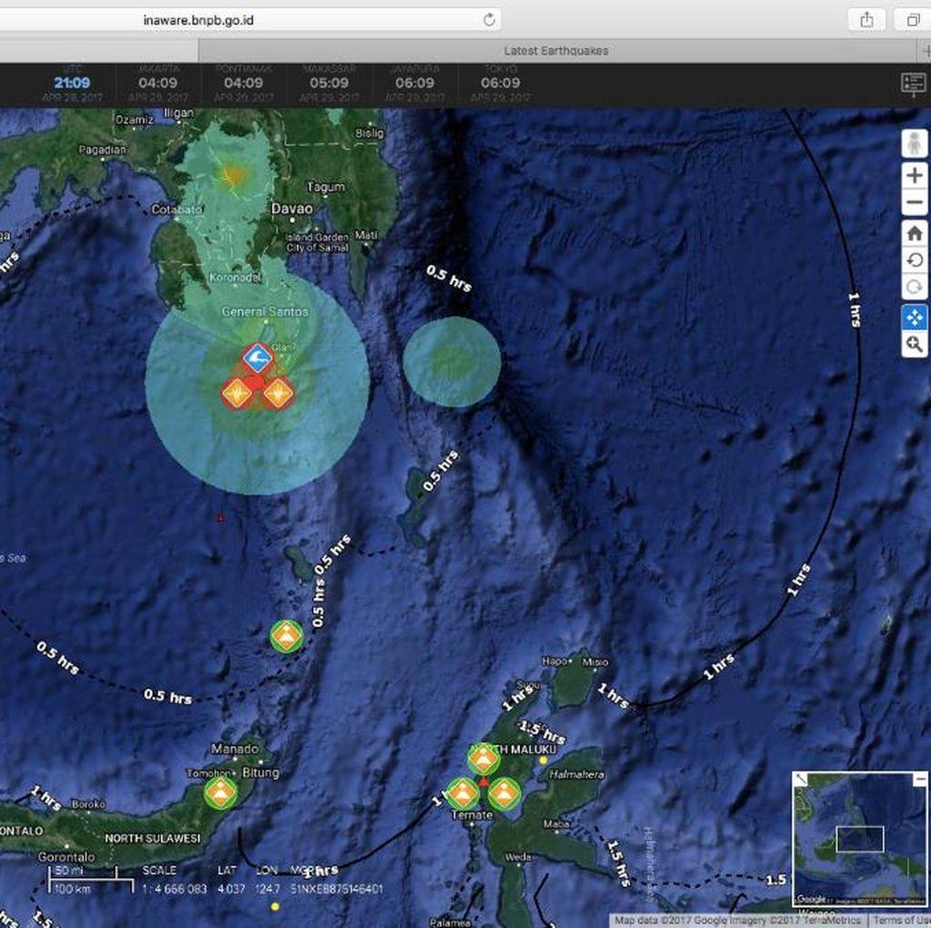 BNPB: Peringatan Tsunami Gempa 7,3 SR di Kepulauan Sangihe Berakhir