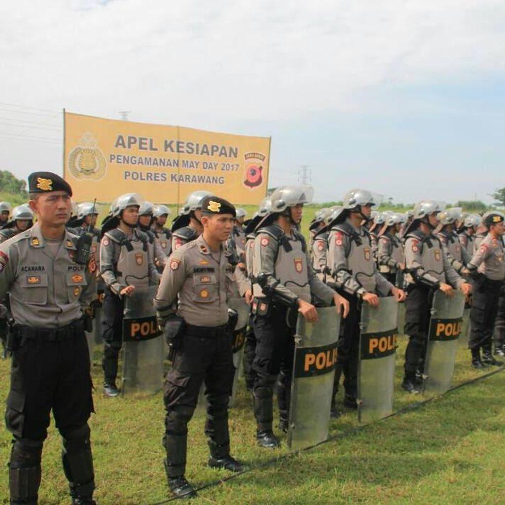 Polres Karawang Siapkan Personel Kawal Massa Buruh ke Jakarta