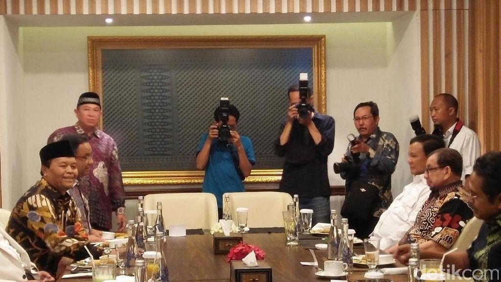 Saat Prabowo, Aher dan Irwan Berbisik-bisik, Bahas Pilkada 2018?