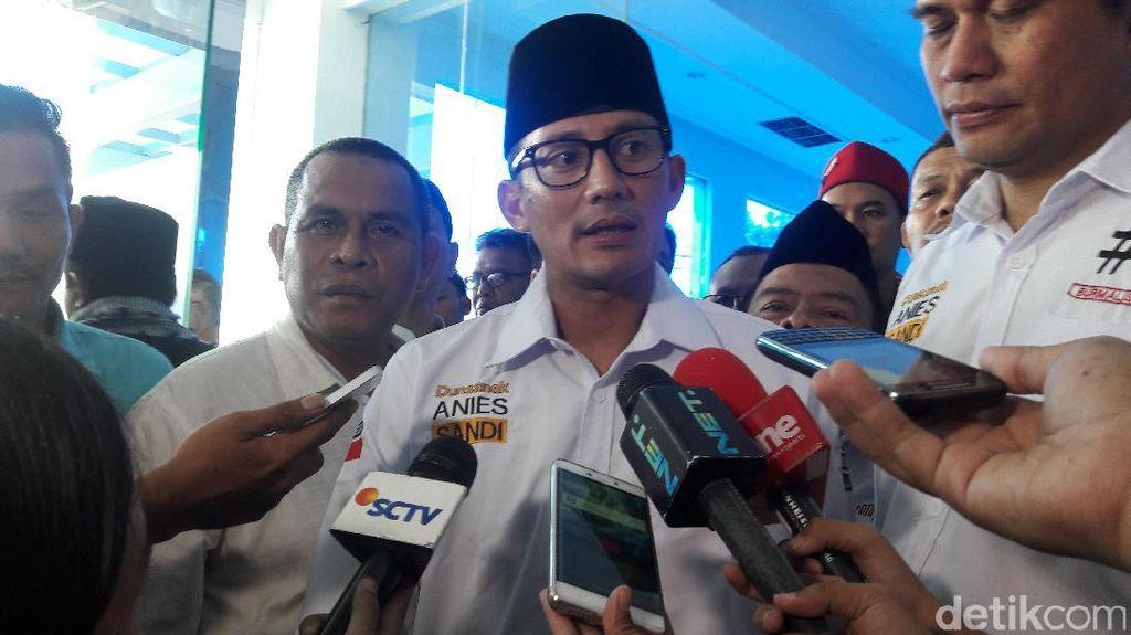 Sandiaga Sebut Jumlah Suara Pemilihnya Ungguli Suara Jokowi-Ahok