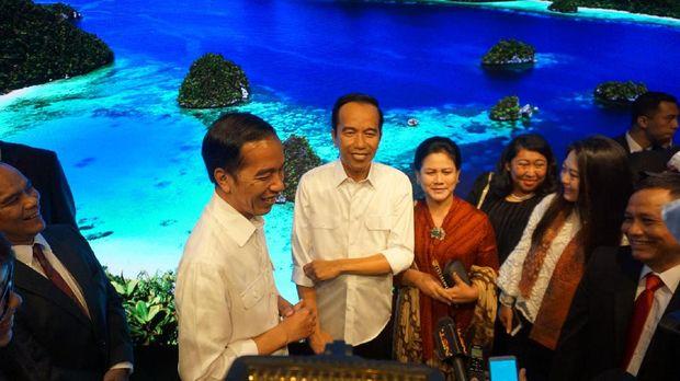 Disaksikan langsung oleh Jokowi (Bagus Prihantoro/detikcom)