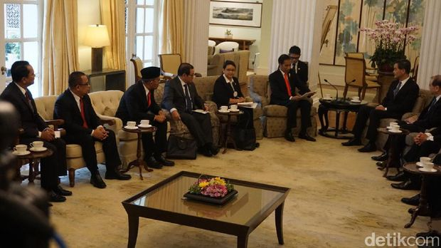 Pertemuan Presiden Jokowi dan Chief Executive Hong Kong Leung Chun-ying /