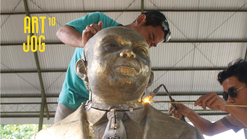 Beri Penghargaan, ART|JOG Dirikan Patung RJ Katamsi