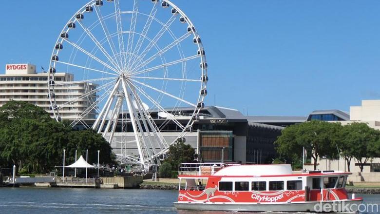 Foto: Menyusuri sungai naik kapal gratis di Brisbane (Fitraya/detikTravel)