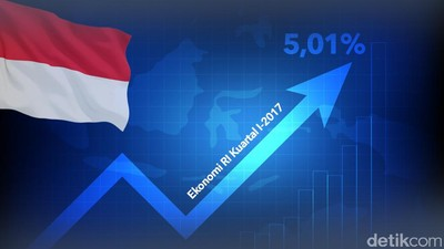 Ekonomi RI Tumbuh 5,01% di Kuartal I-2017
