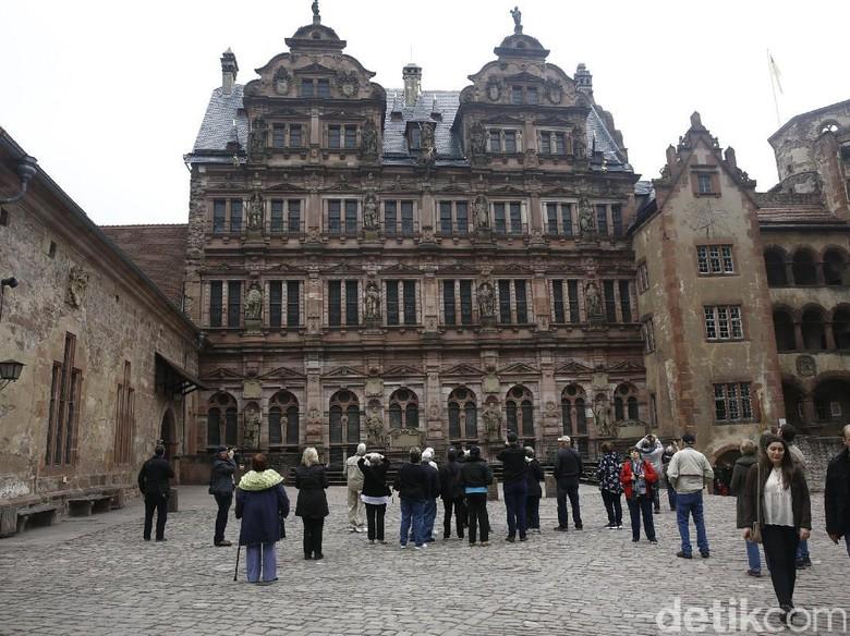 Landmark Kastil Heildelberg Jerman