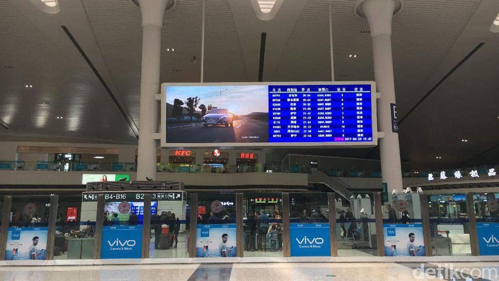 Seperti Bandara, Potret Modern Stasiun Kereta Api di Xinjiang
