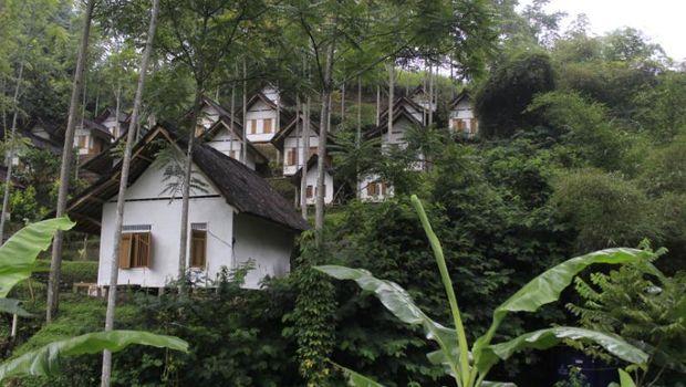 Kampung ini dibuat sebagai miniatur Kampung Naga Tasikmalaya (Wisma Putra/detikTravel)