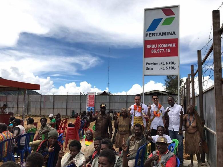 Kampung Terpencil di Papua Ini Nikmati Harga BBM Seperti di Jawa