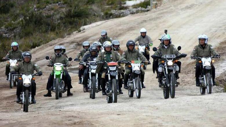 Ini Motor Trail yang Ditunggangi Jokowi di Wamena