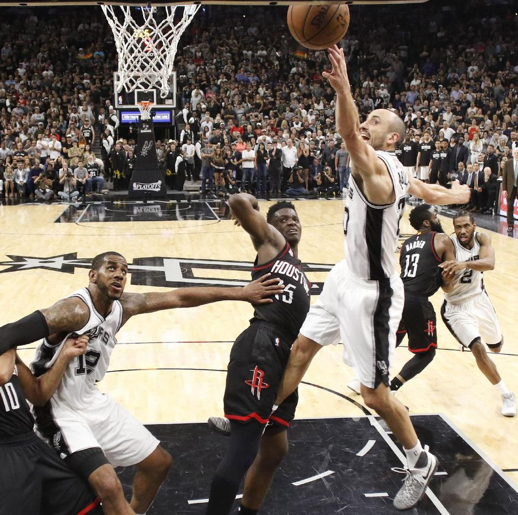 Spurs vs Rockets Masih Ketat, Gim Lima Harus Sampai Overtime