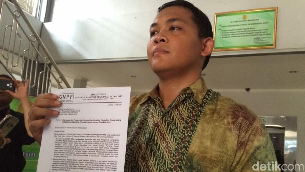 Datangi PT DKI, GNPF MUI Minta Majelis Banding Ahok Independen