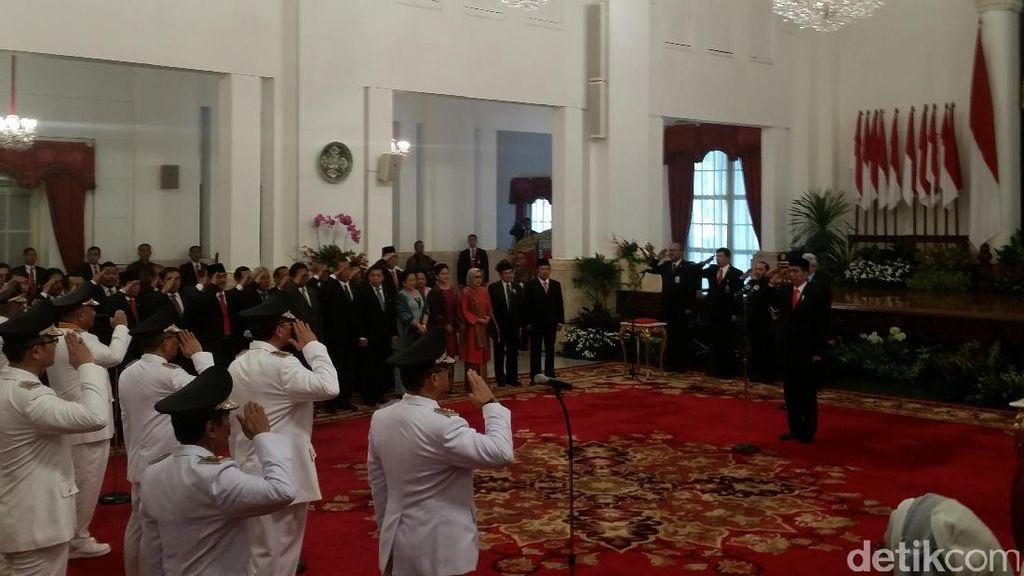 Presiden Jokowi Lantik 5 Gubernur Baru