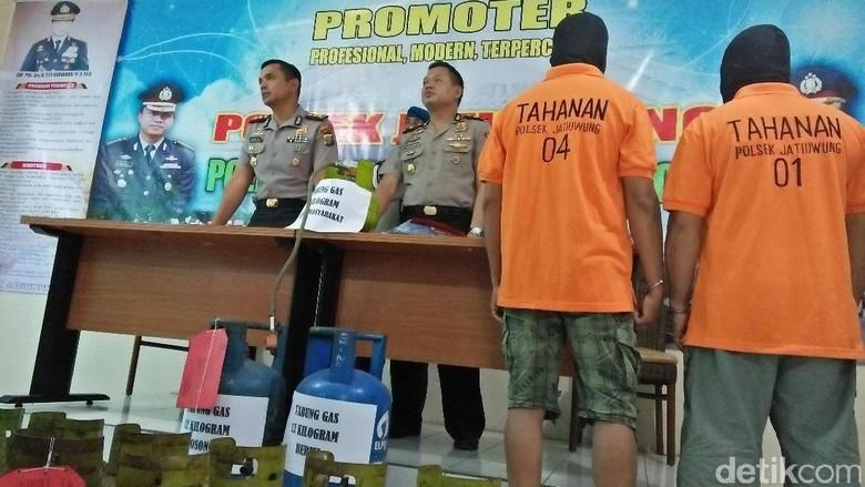Polisi Tangkap Pelaku Pengoplos Gas Elpiji di Tangerang