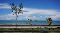 Pemandangan Pantai Pohon Cinta (Wahyu/detikTravel)