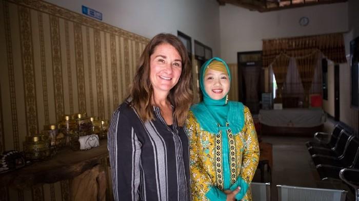 Melinda Gates dan Ati. Foto: Bill & Melinda Gates Foundation