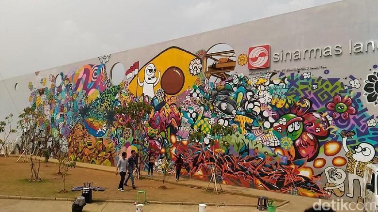 Konser harkitnas di rptra kalijodo warga dari remang for Mural kalijodo