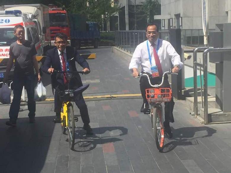 Menhub Harap Sistem Bike Sharing di China Bisa Ada di Kampus RI