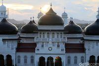 Indahnya Wajah Baru Masjid Baiturrahman Aceh dari Ketinggian