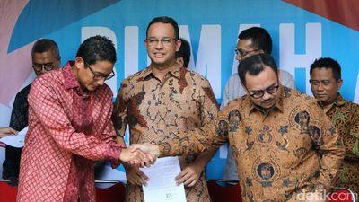 Tim Sinkronisasi Anies-Sandi Sudah PDKT ke DPRD DKI