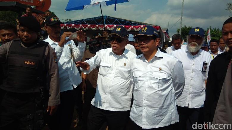 Dua Menteri Jokowi Groundbreaking Proyek Jembatan di Kediri