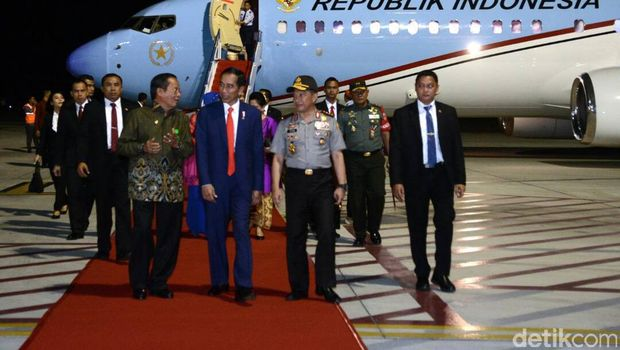 Presiden Jokowi tiba di Palu, Sulteng.