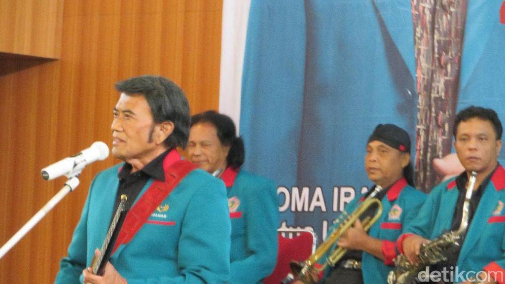 Aksi Rhoma Sampaikan Visi Misi Partai Idaman Lewat Irama Dangdut