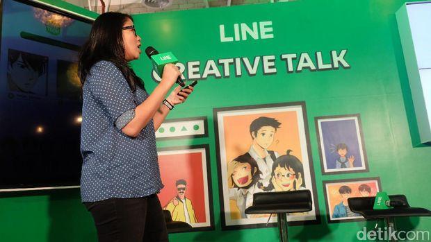 LINE Creative Talk digelar di Cafe Kino, Sentral Senayan 3, Jakarta, Selasa (16/5/2017)