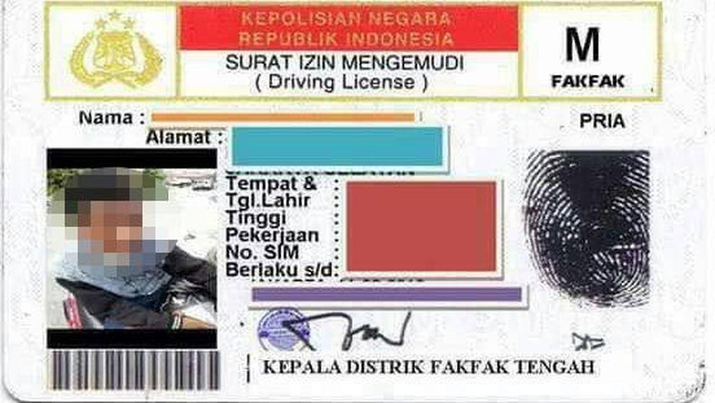 Polisi Tangkap Pemalsu SIM M Pelajar SMP di Fakfak