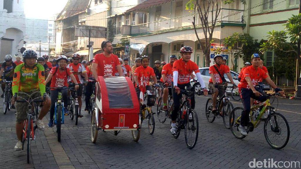 Dubes Denmark dan Ganjar Nggowes Bareng Keliling Kota Semarang