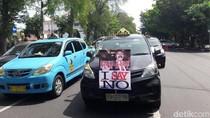 Uber Masuk Solo, Sopir Taksi Unjuk Rasa di Balai Kota