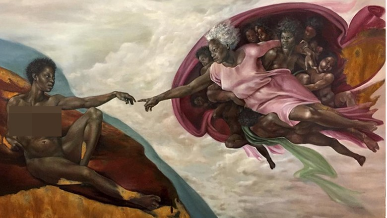 Kontroversi, Sosok The Creation of Adam Michelangelo Menjadi Berkulit Hitam