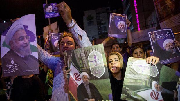 Pendukung Hassan Rouhani