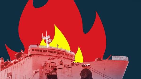 Begini Kesaksian Penumpang KM Mutiara yang Terbakar di Sumenep